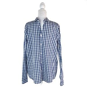 5/$25 H&M Men'd Blue Plaid Button Up Shirt | M